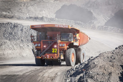 mining photography small feature image of mine truck on circuit
